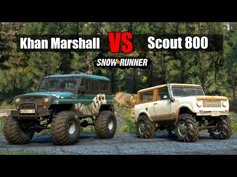 Snowrunner: Scout 800 VS Khan Marshall | Which Is Best Scout