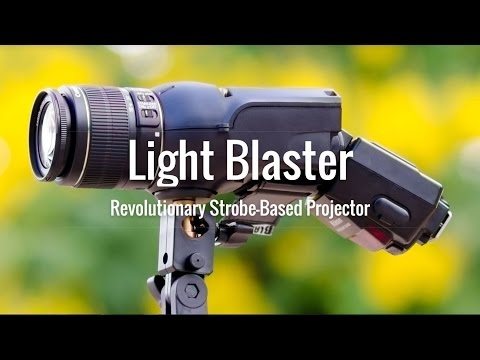 LightBlaster Strobe Based Image Projector Unboxed & Initial Impressions (UNLIMITED BACKGROUNDS)