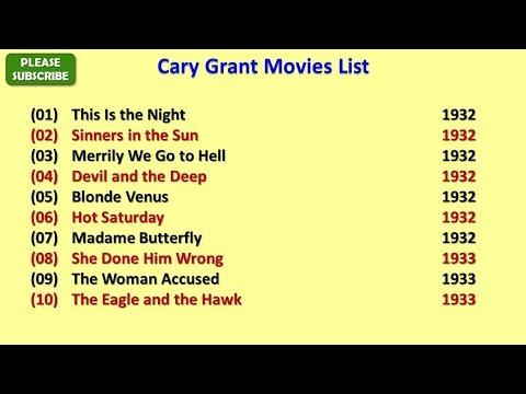 Cary Grant Movies List