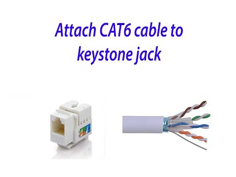 How to attach CAT-6 cable to KEYSTONE jack under 5 mins