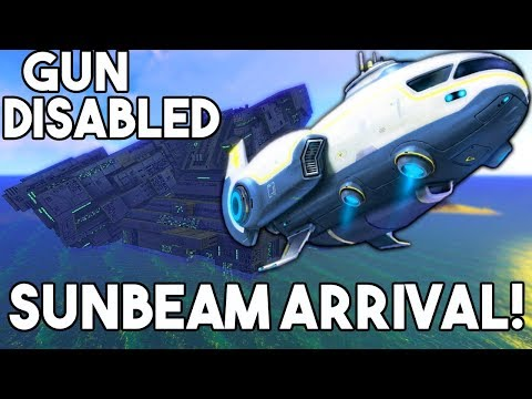 Subnautica - DISABLING THE GUN FOR THE SUNBEAM ARRIVAL! GHOST LEVIATHAN & SECRET MESSAGE? - Gameplay