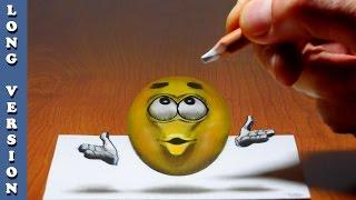 Emoji   3D Trick Art on Paper, Long Version