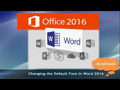 default font in word 365