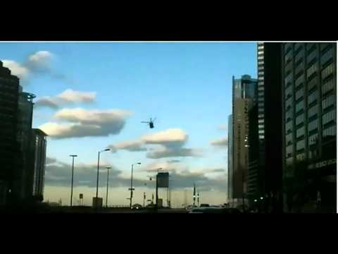 Special Forces Black Hawk Helicopters at Street Level in Chicago, IL
