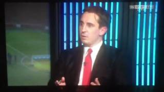 Gary Neville rant about vinegar and olives