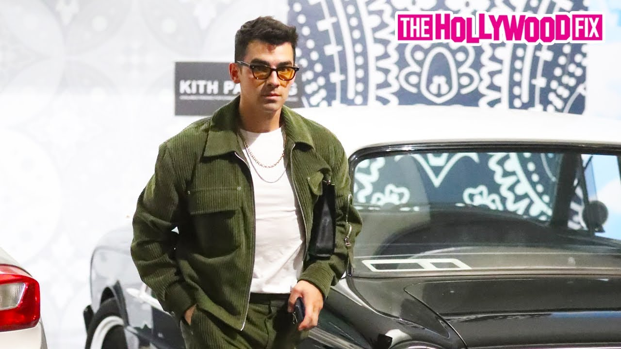 Joe Jonas Takes His Custom Vintage Ford Falcon Out On A Shopping Trip To Kith In West Hollywood