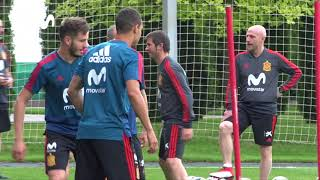 La Selección Española Sigue Preparando el Partido ante Irán