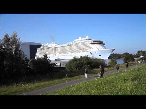 Float Out of the Quantum of the Seas at Meyer Werft