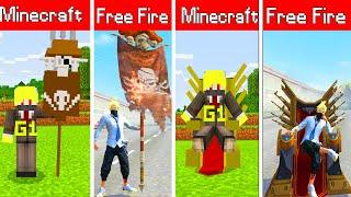 ONE VÀ NOOB YETI THỬ THÁCH CHƠI MINI GAME SỬ DỤNG TẤT CẢ HÀNH ĐỘNG VIP GIỐNG FREE FIRE TRONG MINECRA