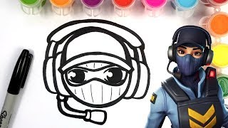 HOW TO DRAW WAYPOINT SKIN - FORTNITE