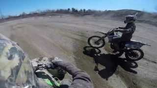 YZ250F DIRT BIKE vs KFX700 QUAD