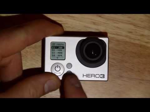 Set Time and Date: GoPro HERO3 Menu and camera setup