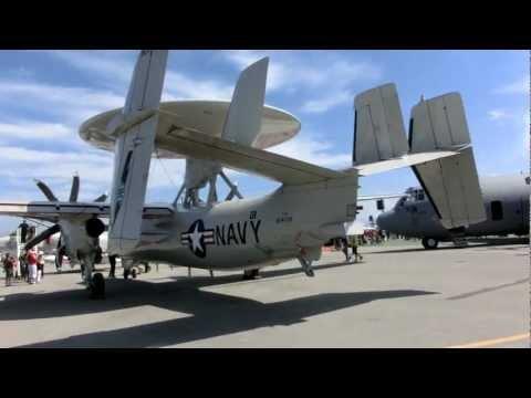 Navy Northrop Grumman E-2C Hawkeye Airborne Early Warning (AEW) from Naval Air Station Fallon NV