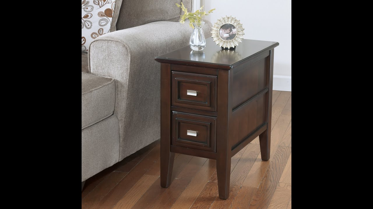 T654 7 Review U0026 Assembly Ashley Furniture Larimer Chair Side End Table Dark  Brown   YouTube