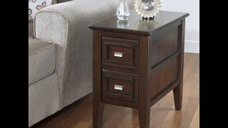 T654-7 Review & Assembly Ashley Furniture Larimer Chair Side End Table Dark Brown