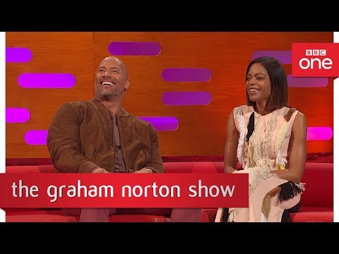 Naomie Harris & Dwayne Johnson on the Moonlight Oscars MixUp  The Graham Norton    BBC
