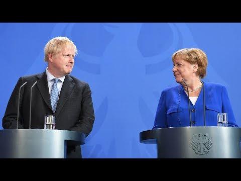 Boris Johnson meets Angela Merkel in Berlin