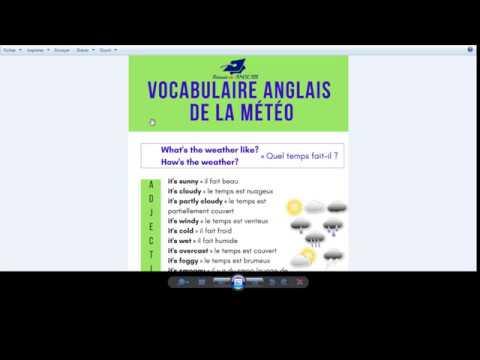 Exceptionnel Vocabulaire anglais de la météo - YouTube JQ65