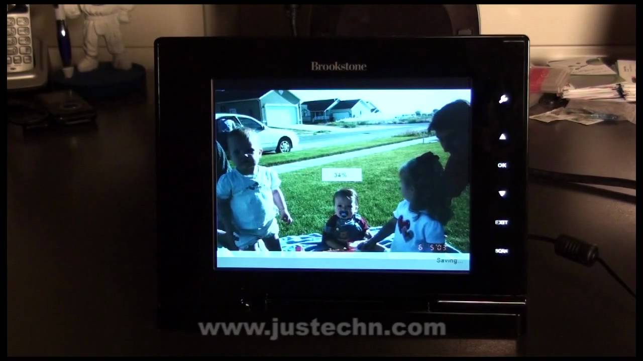 Brookstone Iconvert 8 Digital Picture Frame Review Youtube