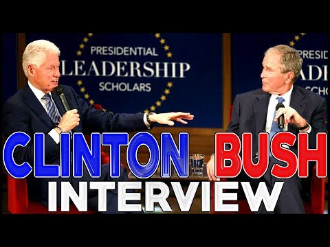 🔴 Presidents George W. Bush And Bill Clinton -- INTERVIEW