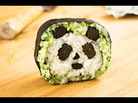 How To Make Panda Sushi Roll - Amazing Food Art