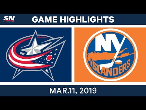 NHL Highlights | Blue Jackets vs. Islanders – Mar 11, 2019