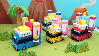 The planet of dinosaur l Paper Play Tayo #1 l New friend Dindin l Tayo the Little Bus