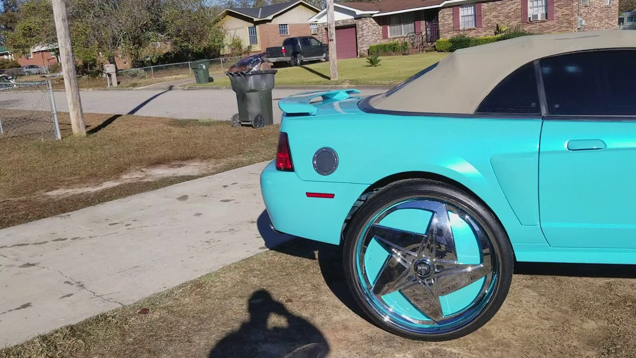 1ac83a0a11152 True Gritt Customs pearl Mustang on 30s floaters - YouTube