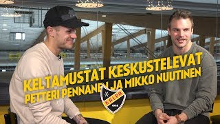 Keltamustat keskustelevat - Mikko Nuutinen ja Petteri Pennanen
