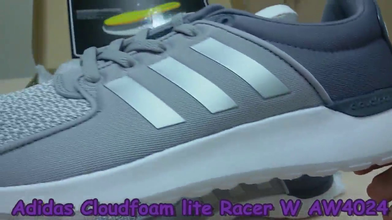 unboxing revisione scarpe adidas cloudfoam lite racer w aw4024 su youtube