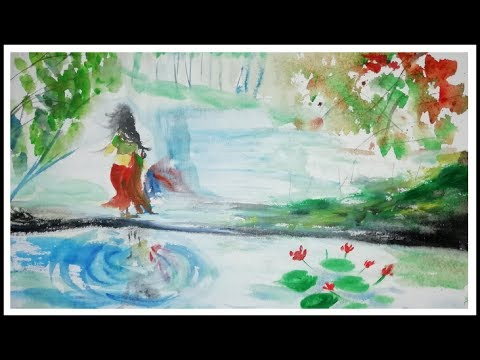 Watercolor demo shanto Art khulna BD