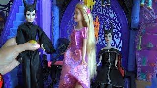 Мелодрама Малефисента и ее сестра Дуняфисента видео с куклами серия 353 Рапунцель рада тете пока что
