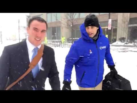 VIDEO: Man Braves Boston Blizzard in a Business Suit