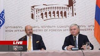 Հայաստանի արտգործնախարարի և ԵԱՀԿ գլխավոր քարտուղարի ասուլիսը  Ուղիղ
