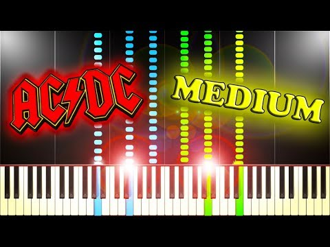 AC/DC - HIGHWAY TO HELL - Piano Tutorial