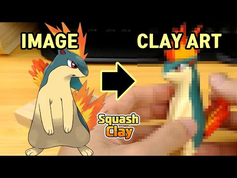 Pokémon Clay Art: Quilava Fire-type Pokémon!!