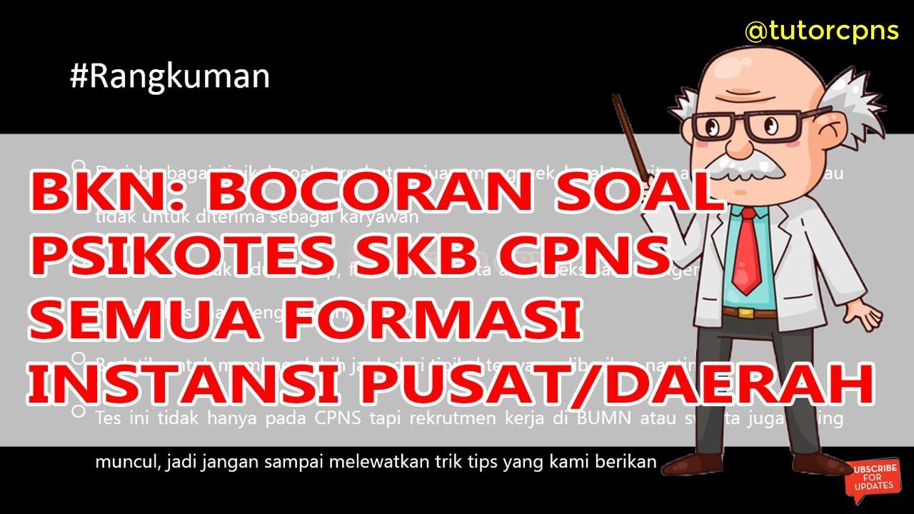 Bkn Bocoran Soal Psikotes Persiapan Tes Skb Cpns Instansi Pusat