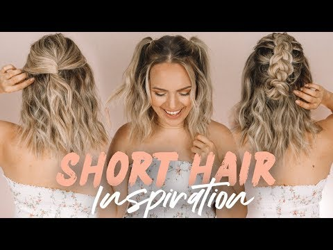 Easy Short Hairstyles and Beach Waves! - KayleyMelissa thumbnail