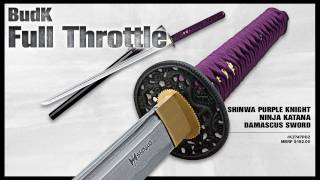Shinwa Purple Knight Ninja Katana Damascus Sword - $99.98
