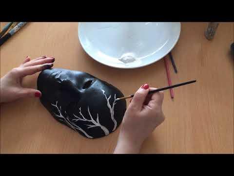 Kolay Maske Sari Cicekli Siyah Maske Boyama Ilzle Ogren Uygula