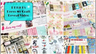 Dress My Craft DT Kit Reveal | Crafty Haul | Ruchi's Crafeteria