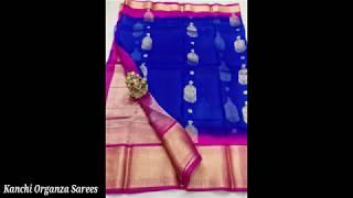 Latest pure organza silk sarees reasonable price