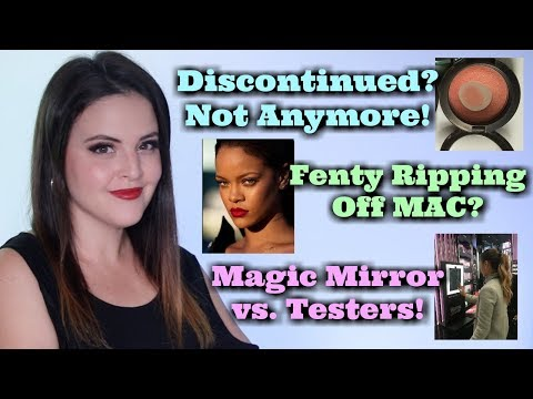 What's Up in Makeup NEWS! Recreate Discontinued Makeup! Did Fenty Copy MAC? Magic Mirrors Help Test!