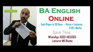 how to pass english of ba pu uos iub audio lectures notes of mk bhutta