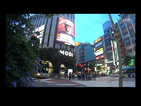 "Lee ""Scratch"" Perry huge billboard advertisement in Shibuya, Tokyo, Japan. 360 Ad massive big giant"