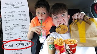 Letting LITTLE BROTHER Decide What i EAT for 24 HOURS!! (IMPOSSIBLE Mystery Food Challenge)