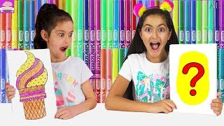3 MARKER CHALLENGE - Incredible Crayola Smells Edition - Funny kids video