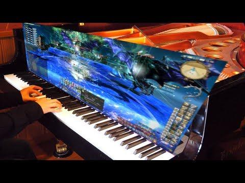【FF14】 極神龍 後半 BGM Shinryu Extreme Theme 弾いてみた 【ピアノ】 Piano Cover