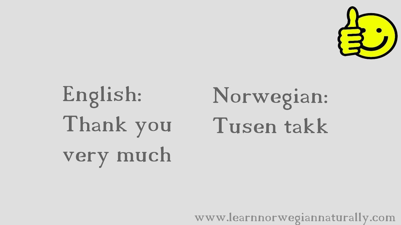 Nice to meet you in norwegian