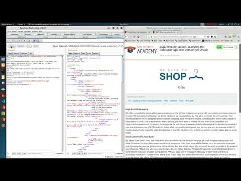 SQL Injection Attack, Querying The Database Type And Version On Oracle (Video Solution)